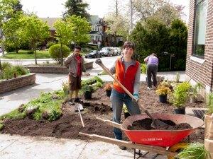 Peninsula Garden May 2012 - Adding Soil